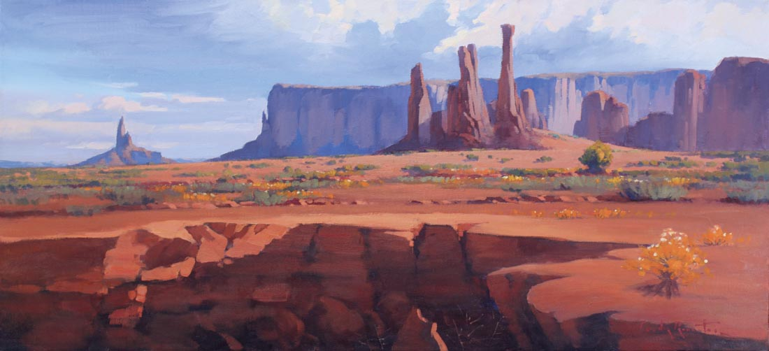Monument Valley Art Usa Art Rossiters Paintings